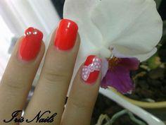 #nails #bow