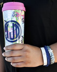 Memento - Personalized Monogrammed Gifts - Monogrammed Lilly Pulitzer Thermal Mug, $22.00 (http://www.shopmemento.com/monogrammed-lilly-pulitzer-thermal-mug/)