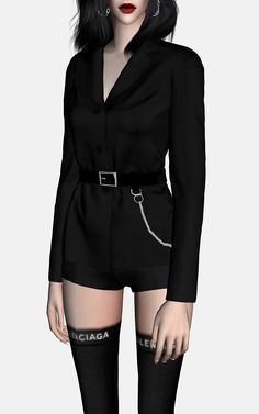 RONA_SIMS — [RONA] belted single jacket set TS4 New mesh ... Sims 3, Sims Four, Sims 4 Mods Clothes, Sims 4 Clothing, Vêtement Harris Tweed, Sims 4 Hair Male, Mode Adidas, Sims 4 Game Mods, Sims4 Clothes