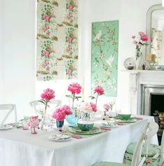 Mint green and Pink..love
