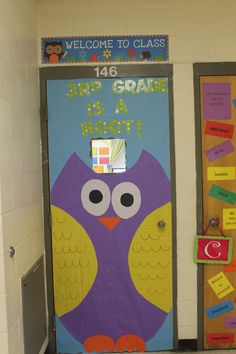 My door for my owl themed classroom :)