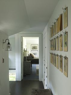 love the clip board idea for display – the sheer number of them along a large blank wall works beautifully!