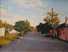 Artwork: Walter Meyer : ARTWORK : WalterMeyer South African Art, 21st Century, Oil On Canvas, Country Roads, Landscape, Artwork, Brother, City Scapes, Paintings