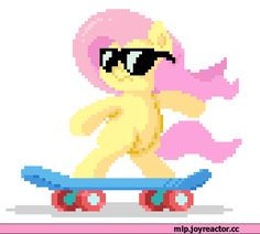 If you are a true Mlp fan, you need a 20% cooler skateboarding Fluttershy