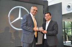L-R - Mr. Eberhard Kern, Managing Director & CEO, Mercedes-Benz India with Ajmal Abdul Wahab, Managing Director, Bridgeway Motors.