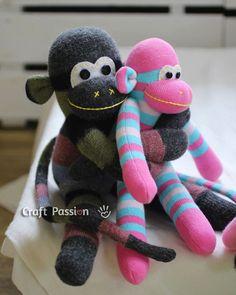 NapadyNavody.sk | Ako si ušiť opičku z ponožky - lacná a zábavná hračka pre vaše deti