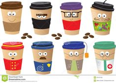 Delighful Cute Cup Designs Coffee Cups Characters In Inspiration