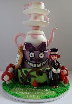 Alice in Wonderland birthday cake!!! :-) by Paul's Creative Cakes
