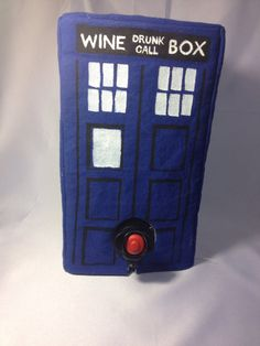 Doctor Who TARDIS inspired wine box cover - 3 liter