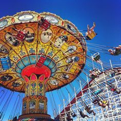 Santa Cruz Beach Boardwalk - With a famous antique 1924 wooden roller coaster, this is one of the few remaining ocean-side amusement parks. Santa Cruz.