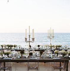 Elegant Seaside Mexico Wedding via Once Wed, image by Eric Kelley, Floral Design: Peter de Anda