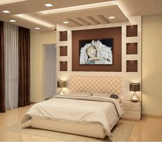 bed room ceiling designs 2020 Latest catalog board false ceiling designs This simple to create drywall texture is commonly Interior Ceiling Design, House Ceiling Design, Ceiling Design Living Room, Bedroom False Ceiling Design, Luxury Bedroom Design, Master Bedroom Interior, Bedroom Furniture Design, Home Room Design, Master Bedroom Design