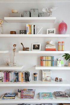lots of floating shelves