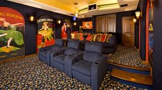Movie themed bedrooms - home theater design ideas - Hollywood style decor - movie decor - Film decor - home cinema decor - movie theater decor - Home Theater Curtains - cinema themed bedroom movie theater - movie themed decorating ideas - movie props - de Home Theater Curtains, Theater Room Decor, Home Theater Room Design, Home Theater Setup, At Home Movie Theater, Home Theater Rooms, Home Theater Seating, Cinema Room, Home Theater Installation