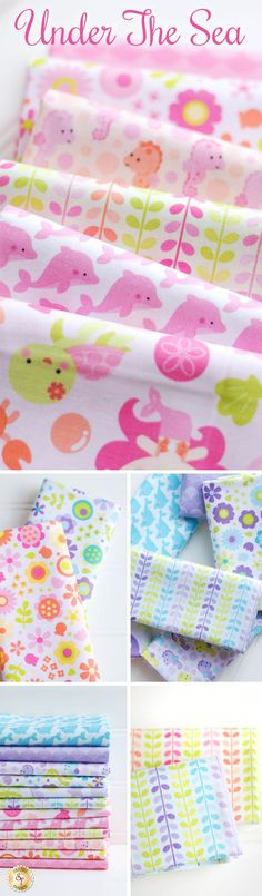 Under The Sea by Doodlebug Design inc. for Riley Blake Designs is a darling mermaid fabric collection available at Shabby Fabrics!