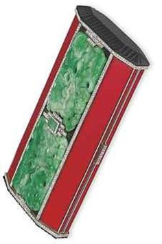 AN ART DECO ENAMEL, JADE AND DIAMOND VANITY CASE, BY VAN CLEEF & ARPELS