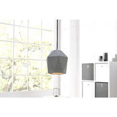 Moderne hanglamp cement prisma grijs 15cm - 36240