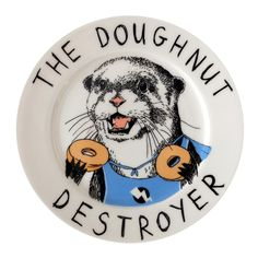 Discover the Jimbobart 'Doughnut Destroyer' Side Plate at Amara
