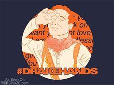 Drake Hands T-Shirt - http://teecraze.com/drake-hands-t-shirt/ -  Designed by TShirt Laundry
