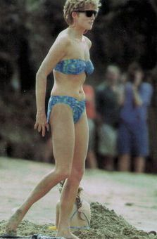 Princess Diana. What a terrible picture, she does not look healthy...so sad.
