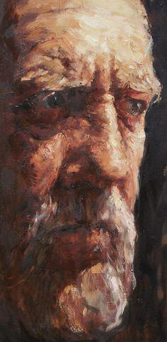"""Father"", 81х41 cm, oil on canvas, 2013 Anatoly Shumkin"