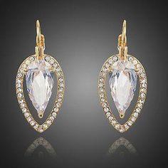 Cubic Zirconia Water Drop Dangle Earrings  #earrings #rings #fashion #khaista #womensfashion #women #dresses #necklace #jewelry