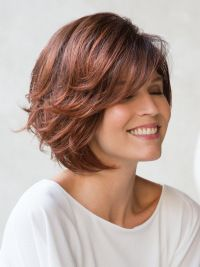 Red Short Wavy Bob Capless Women'S Wigs Online shopping for Big Savings on WIGSIS.Buy this wig Red Short Wavy Bob Capless Women'S Wigs today, new fasion, new life! Stacked Bob Hairstyles, Bob Hairstyles With Bangs, Curly Hair With Bangs, Hairstyles Haircuts, Straight Hairstyles, Wavy Hair, Fashion Hairstyles, Party Hairstyles, Thick Hair