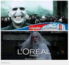 Colgate & L'oreal Comercial-Harry Potter Version-LOL!!!