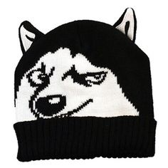 Stylish Funny Dog Head Shiba inu Doge Kabosu Knitted Hat Creative Animal Winter Hat For Women Man Cute Beanies Unisex Bonnet Cap