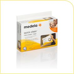 Medela Quick Clean Micro-Steam Bags - resusable bags to sterilize pump parts in the microwave