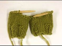 DROPS Knitting Tutorial: How to slip 2 legs for pants on to the same circular needle. - YouTube