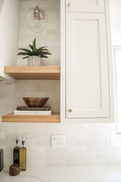 Inset Cabinets, Shaker Style Cabinets, Shaker Kitchen Cabinets, White Shaker Cabinets, Shaker Style Kitchens, Kitchen Cabinet Styles, White Oak Kitchen, White Wood Kitchens, White Shaker Kitchen