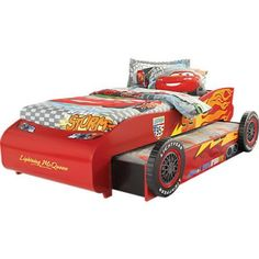 Lightning Mcqueen Race Car Bed And A Toolbox Dresser W