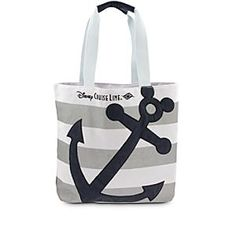 Disney Cruise Line Anchor Tote | Disney StoreDisney Cruise Line Anchor Tote - Stow away all your travel essentials in this sturdy canvas tote with embroidered Disney Cruise Line logo and Mickey icon anchor appliqu�. There's plenty of room aboard for everything from sun goods to souvenirs.