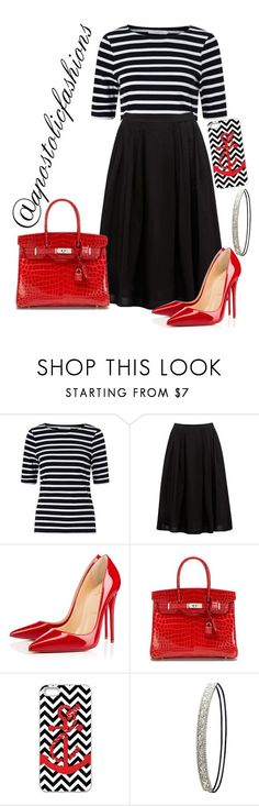"""""""Apostolic Fashions #1378"""" by apostolicfashions ❤ liked on Polyvore featuring John Lewis, Forever New, Christian Louboutin, Hermès, Charlotte Russe, modestlykay and modestlywhit"""