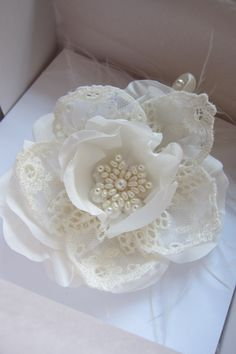 LACE AND FABRIC FLOWER