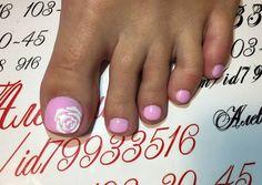 Цветы на ногтях, роза на ногтях