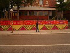 Carpet design street art, Montenegro - Amazing!