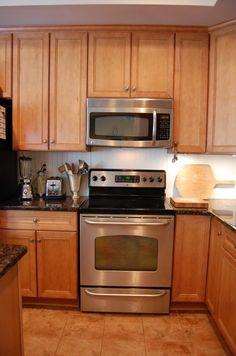 #renting #kitchen hot glued bead board to neutral and lighten up our rental kitchen backsplash
