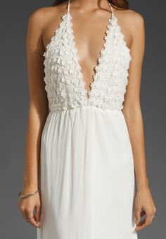 FOR LOVE  LEMONS Camillia Maxi in Ivory at Revolve Clothing - Free Shipping!