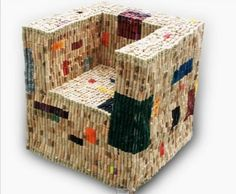 And the last one is a landmark in the cork recycled furniture range. It has got the perfect finishing, perfect shape, perfectly fine corks, and above all its practicality and durability is pretty obvious. Diy Cork, Cork Crafts, Eco Design, Elements Of Design, Wine Cork Art, Recycled Furniture, Arts And Crafts, Kids Crafts, Decorative Boxes