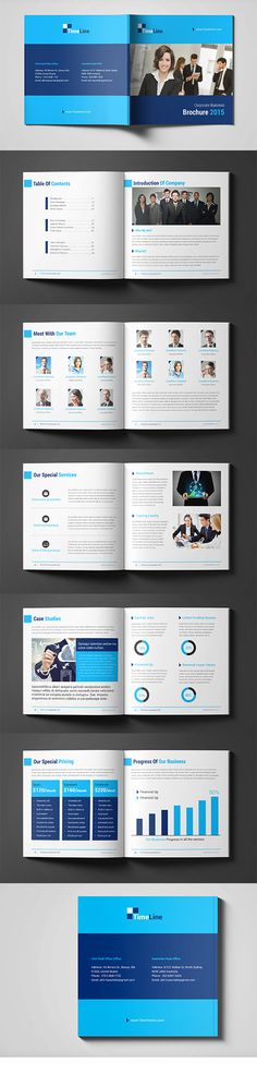 Business Square Brochure Template