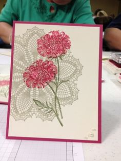 Stampin' Up! Field Flowers stamp set and Hello Doily stamp