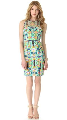 Abstract Aztec dress by Milly.