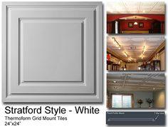 Stratford drop ceiling tiles