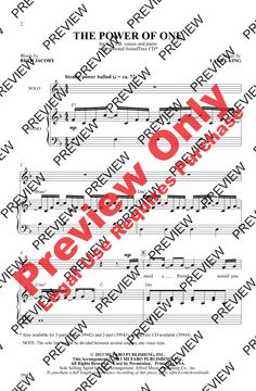 The Power of One (SATB) by Beth Jacoby & La | J.W. Pepper Sheet Music