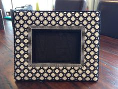 Colors of Praise Needlepoint Picture Frame stitched to showcase a holiday formal wear photo!  Delish!