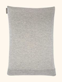 Cashmere Cushion With Constructed Rib in Fumo Grey - N.PEAL Luxury Cashmere