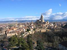View onto the city from the Alcazar de Segovia, Spain