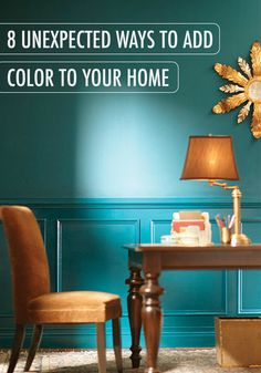 Color is one of our favorite ways to bring personality and a focal point to the dining room, kitchen, or hallway. Used in unexpected ways, color can really speak to your personal flair and set your home apart! Check out these fun ways to add style to your home with help from BEHR paint.
